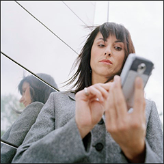 image of person using a smartphone